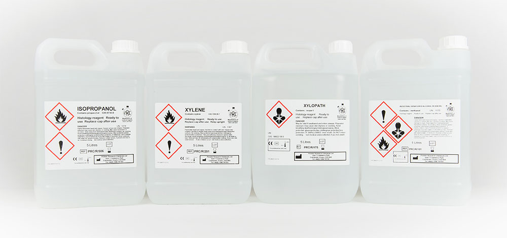 Solvents & Xylopath (Xylene substitute) | Pioneer Research